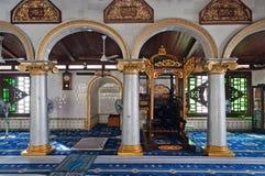 À l'intérieur de la mosquée de Kampung Kling Photos libres de droits