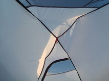 À l'intérieur de la tente Le plafond de la tente Image stock
