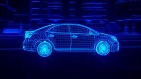 À l'intérieur de la transmission automobile d'aperçu de fil, moteur, suspension, roues illustration de vecteur