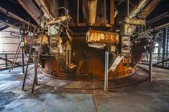 À l'intérieur de la vieille usine Photo stock
