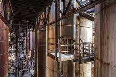 À l'intérieur de la vieille usine Image stock