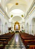 À l'intérieur de la Vierge Del Saliente de monastère Images stock