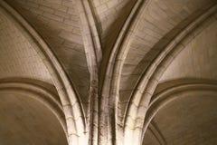 À l'intérieur de la vue de Conciergerie Paris, l'ancienne prison, citent dedans l'île, France image libre de droits