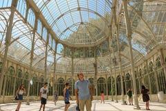 À l'intérieur de Palacio de Cristal, à Madrid, l'Espagne photographie stock libre de droits