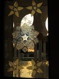 À l'intérieur de Sheikh Zayed Mosque, Abu Dhabi, EAU Photographie stock libre de droits