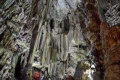 À l'intérieur des cavernes au Gibraltar Photos stock