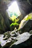 À l'intérieur des vieux chantiers connus sous le nom de caverne de cathédrale, ou caverne photos stock