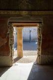 À l'intérieur du bâtiment antique dans Pompey, l'Italie Photos stock