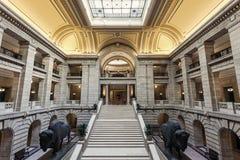 À l'intérieur du bâtiment législatif de Manitoba dans Winnipeg Image libre de droits