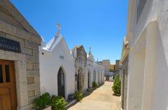 À l'intérieur du cimetière marin de Bonifacio, la Corse photo libre de droits