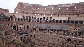 À l'intérieur du colosseum à Rome Photo libre de droits