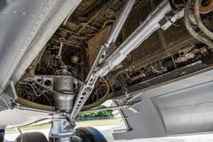 À l'intérieur du compartiment de train d'atterrissage Photo libre de droits