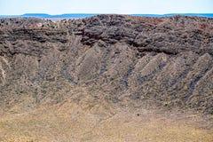 À l'intérieur du cratère Photo libre de droits