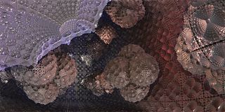 À l'intérieur du cube futuriste en science fiction avec des gouttes organiques, illustr 3D Image stock