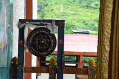 À l'intérieur du Dzong de Punakha, le Bhutan - 3 Photos stock