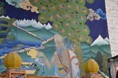 À l'intérieur du Dzong de Punakha, le Bhutan - 4 Images libres de droits