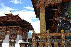 À l'intérieur du Dzong de Punakha, le Bhutan - 5 Image stock