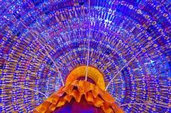 À l'intérieur du festival pandal de puja de Durga de décoration Photographie stock