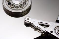 À l'intérieur du lecteur de disque dur Images libres de droits