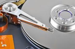 À l'intérieur du lecteur de disque dur, DOF Photo stock