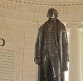 À l'intérieur du mémorial de Jefferson, Washington, C.C Photographie stock libre de droits