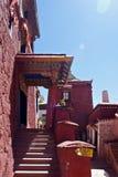 À l'intérieur du monastère de Ganden Photo libre de droits