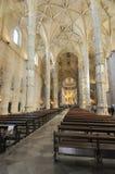 À l'intérieur du monastère de Jerónimos Images libres de droits