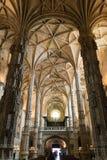 À l'intérieur du monastère de Jeronimos (Lisbonne, Portugal) Photo stock
