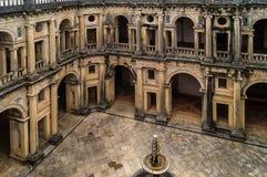 À l'intérieur du monastère de Tomar, le Portugal Photos libres de droits