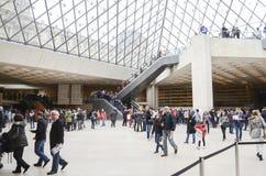 À l'intérieur du musée de Louvre Photographie stock libre de droits