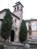À l'intérieur du palais d'Alhambra photos stock