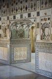 À l'intérieur du palais de miroir en Amer Palace Images stock