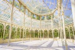 À l'intérieur du palais en cristal photo stock
