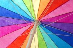 À l'intérieur du parapluie d'arc-en-ciel Photos libres de droits