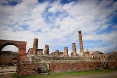 À l'intérieur du site d'excavation de Pompeii Photographie stock libre de droits