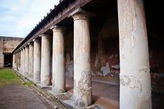 À l'intérieur du site d'excavation de Pompeii Image stock