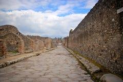 À l'intérieur du site d'excavation de Pompeii Photos libres de droits