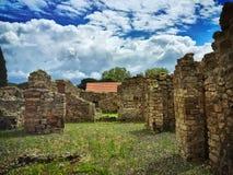 À l'intérieur du site d'excavation de Pompeii Image libre de droits