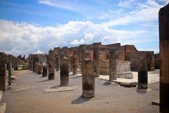 À l'intérieur du site d'excavation de Pompeii Images libres de droits