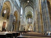 À l'intérieur du St Vitus Cathedral Images stock