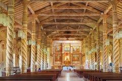 À l'intérieur du St Xavier d'église, missions de jésuite, Bolivie, patrimoine mondial Photographie stock