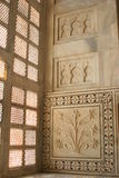 À l'intérieur du Taj Mahal Photo stock
