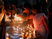 À l'intérieur du temple Madurai de Menakshi Photos libres de droits