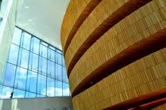 À l'intérieur du théatre de l'opéra d'Oslo Photos libres de droits
