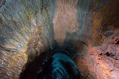 À l'intérieur du volcan Photo libre de droits