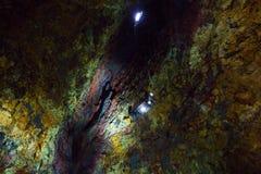 À l'intérieur du volcan Photos stock