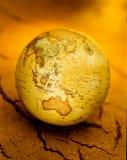À l'intérieur globe du monde de l'Australie photos stock
