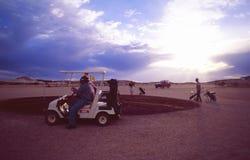 À l'intérieur-sport : Cours de Coober Pedy Golf photographie stock