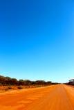 À l'ouest Australien à l'intérieur outre de voie de route Photographie stock