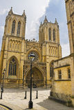À l'ouest avant de Bristol Cathedral dans les sud à l'ouest de l'Angleterre Photo libre de droits